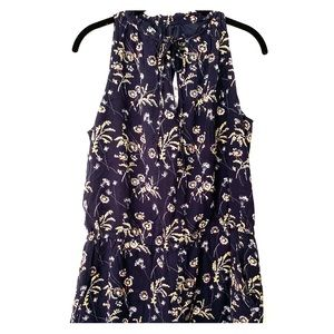 Loft navy and floral romper